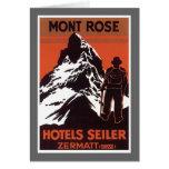Vintage Travel Zermatt Switzerland Hotel Label Cards