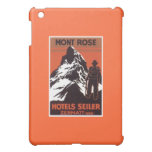 Vintage Travel Zermatt Switzerland Hotel Label iPad Mini Cases