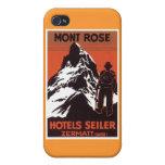 Vintage Travel Zermatt Switzerland Hotel Label Covers For iPhone 4
