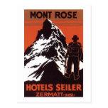 Vintage Travel Zermatt Switzerland Hotel Label Post Cards