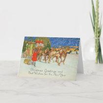 VINTAGE TRAVELS 5x7 Greeting Card