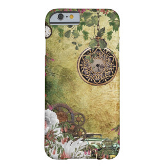 Vintage Treasures clock watch antique car gears Barely There iPhone 6 Case