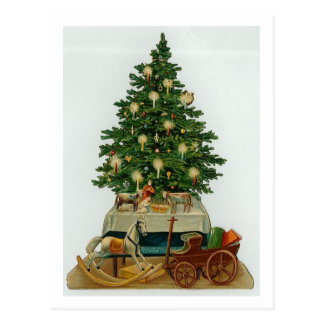Vintage Tree and Wooden Toys Post Cards