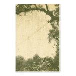 Vintage Tree Background Stationery