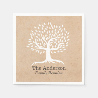 Vintage Tree Family Reunion Paper Napkin