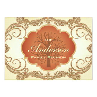 Vintage Tree Floral Family Reunion Invitations