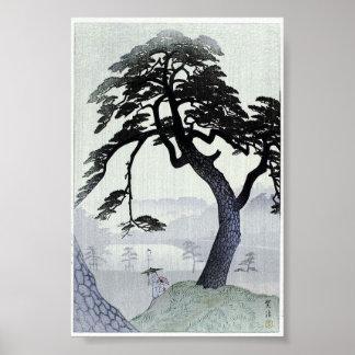 Vintage Tree Japanese Woodblock Art Ukiyo-E Poster