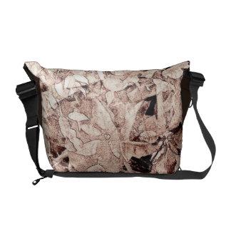 Vintage Tree Leaf Brown Messenger Bag