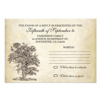 vintage tree old rsvp for wedding design personalized invitation
