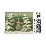 Vintage Trees Postage Stamps