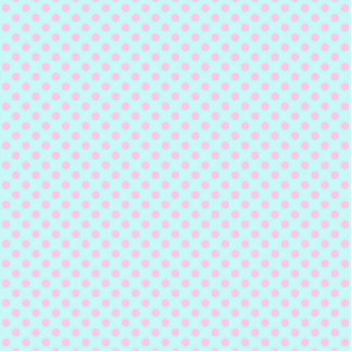 Vintage Trendy Baby Pink White Polka Dots Pattern Cutout