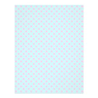 Vintage Trendy Baby Pink White Polka Dots Pattern Flyer
