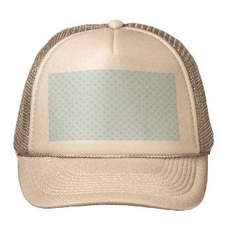 Vintage Trendy Baby Pink White Polka Dots Pattern Hats