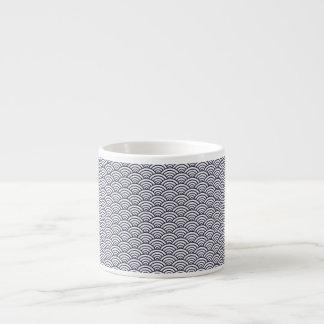 Vintage Trendy Seigaiha Japanese ocean pattern Espresso Cup