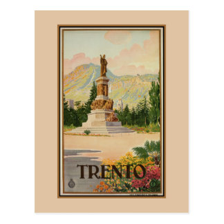 Vintage Trento Trent Italian travel Postcard