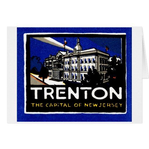 Vintage Trenton NJ Poster Card