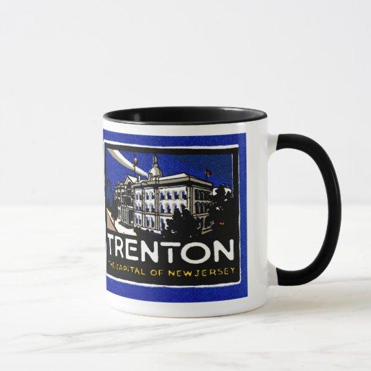 Vintage Trenton NJ Poster Mug