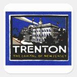Vintage Trenton NJ Poster Stickers