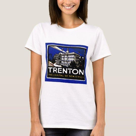 Vintage Trenton NJ Poster T-Shirt