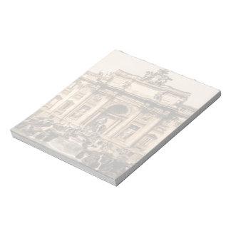 Vintage Trevi Fountain Rome Lazio Italy Memo Note Pads