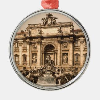 Vintage Trevi Fountain Rome Lazio Italy Christmas Tree Ornament