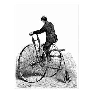 Vintage Tri-cycle Victorian Three Wheel Bicycle Postcard