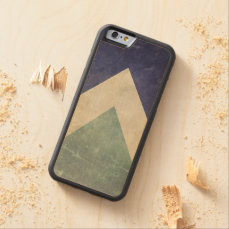 Vintage triangle pattern carved maple iPhone 6 bumper case