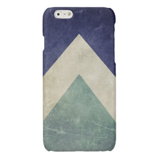 Vintage triangle pattern glossy iPhone 6 case