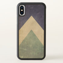 Vintage triangle pattern iPhone x case