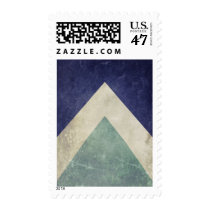 cool, geometric, vintage, hipster, pattern, triangle pattern, funny, retro, shabby, stamp, retro pattern, old, blue, green, geometric pattern, postage, Stamp with custom graphic design