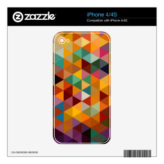 Vintage Triangles Pattern Background. iPhone 4S Decal