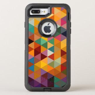 Vintage Triangles Pattern Background. OtterBox Defender iPhone 7 Plus Case