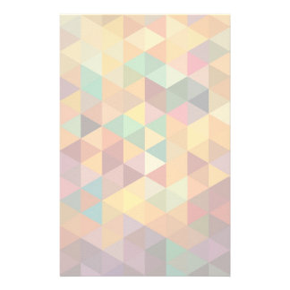 Vintage Triangles Pattern Background. Stationery