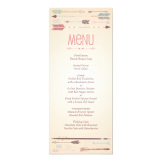 Vintage Tribal Arrows Menu Card