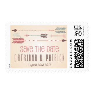 Vintage Tribal Arrows Save the Date Stamp