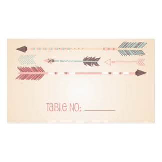 Vintage Tribal Arrows Table Number Escort Card Double-Sided Standard Business Cards (Pack Of 100)