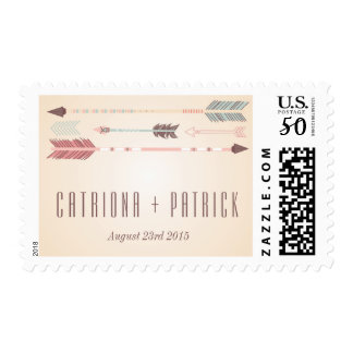 Vintage Tribal Arrows Wedding Stamp