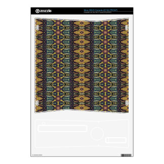 Vintage tribal aztec pattern decal for the xbox 360 s