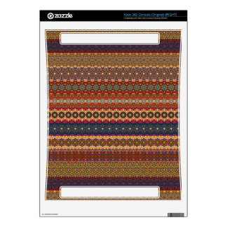 Vintage tribal aztec pattern decals for xbox 360