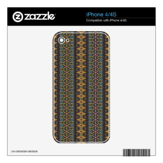 Vintage tribal aztec pattern iPhone 4S decal