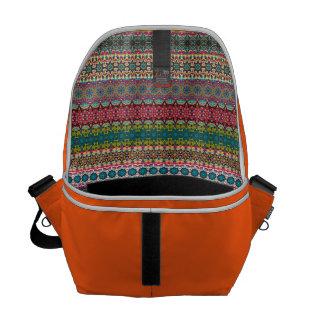 Vintage tribal aztec pattern messenger bag