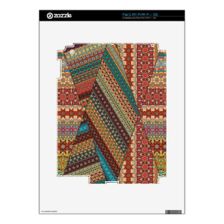 Vintage tribal aztec pattern skin for iPad 2