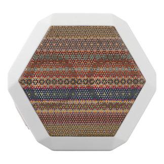 Vintage tribal aztec pattern white bluetooth speaker