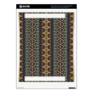 Vintage tribal aztec pattern xbox 360 console decals