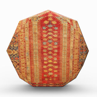 Vintage Tribal Diamonds Pattern Red Award