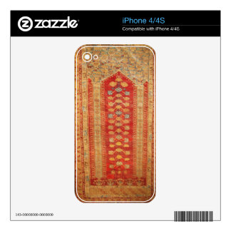 Vintage Tribal Diamonds Pattern Red Decals For The iPhone 4S