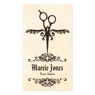 vintage tribal  hairstylist hair stylist shears business card