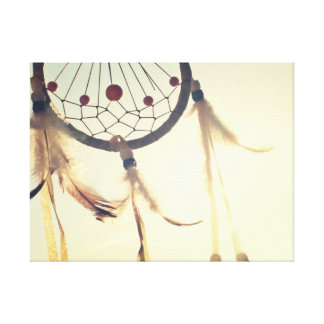 Vintage Tribal Hipster Dream Catcher Ornament Canvas Print
