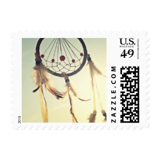 Vintage Tribal Hipster Dream Catcher Ornament Postage