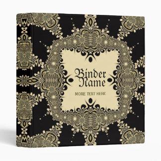 Vintage Tribal Tattoo Decorative Gold Black Binder